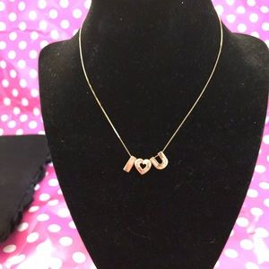 Jewelry - 10k gold I love you necklace